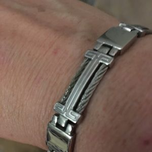 Stainless Steel Bracelet with braided cable
